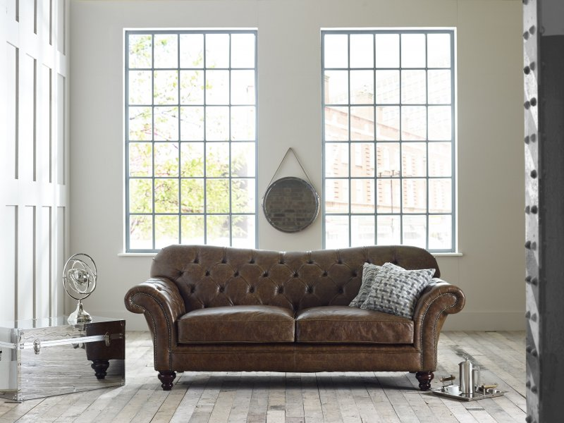 Drummond Vintage Leather Sofa